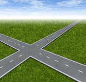 Crossroad Decision Dilemma — Stock Photo