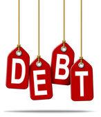 Finansal borç sorunları — Stok fotoğraf