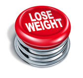 Lose weight Fast Button — Stock Photo