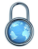 Internet Security Lock — Stock Photo