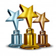 Star Award Trophies — Stock Photo #10351463