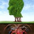 Healthy Heart And Mind — Stock Photo