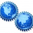 North America Asia Cooperation - Stock Photo