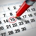 Calendar date — Stock Photo #10534576