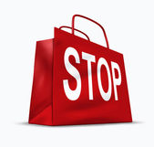 Stop shopping — Stock Photo