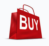Símbolo de compra de saco de compras — Foto Stock