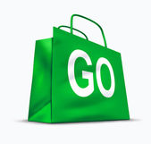 Go shopping symbol — Stock Photo