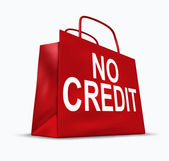 No Credit Symbol — Stock Photo
