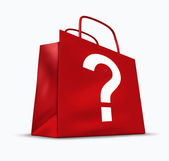 Shopping Questions — Stock Photo