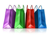 Shopping Bags Front View — Stock Photo