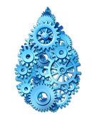 Symbole de l'industrie de l'eau — Photo