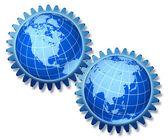 North America Asia Cooperation — Stock Photo