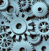 Industrial Teamwork Background — Stock Photo