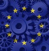 Símbolo de la economía de Europa — Foto de Stock