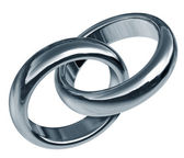 Linked partnership With Linked Rings — Stock Photo