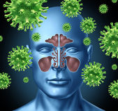 Sinus infection — Stock Photo