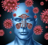 Cold virus infection — Stock Photo