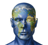 Earth human face — Stock Photo