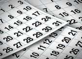 Calendar pages — Stock Photo