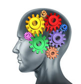 Brain function and intelligence — Stock Photo