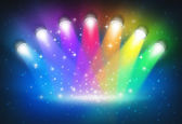 Spotlights With Rainbow Colours — Stockfoto