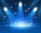 Glowing Blue Spotlights Background — Foto Stock