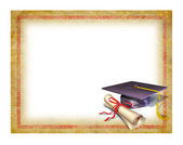 Graduation Blank Diploma — Stock Photo