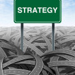 Business strategy and challenge — Stock Photo