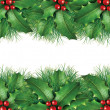 Royalty-Free Stock Photo: Green pine Christmas background image