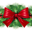 Foto Stock: Christmas decoration border