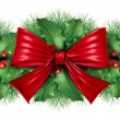 Christmas decoration border — Foto Stock