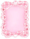 Pink Bubbles frame — Stock Photo