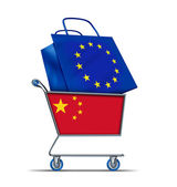 Europe bailout with China buying European debt — Stock Photo