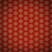 Red and gold leaf antique old wallpaper — Stock Photo