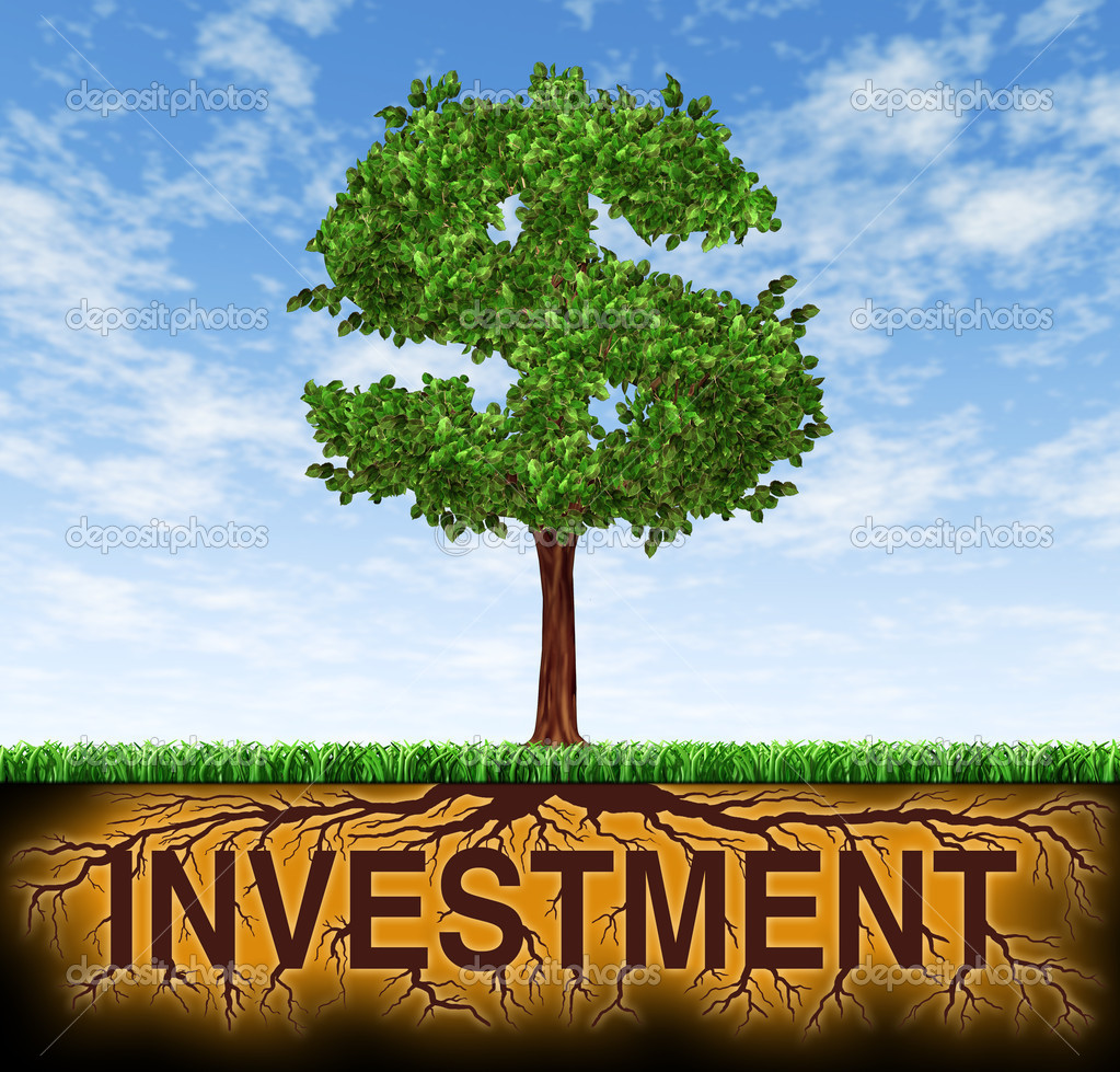 Investment and financial growth - stock image