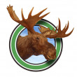 Moose Head Antlers Forest Icon Symbol - 图库照片