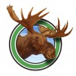 Moose Head Antlers Forest Icon Symbol - Foto Stock