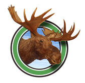 Moose Head Antlers Forest Icon Symbol — Foto de Stock