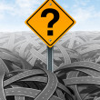 Question Mark Strategy — Stock Photo
