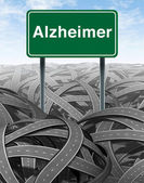 Alzheimer Disease and Dementia Medical concept — Stock Photo