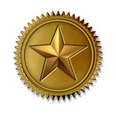 Gold Star Award — Stock Photo