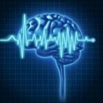 Human Brain Health with ECG — Stock Photo #8622110