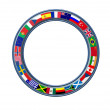 World Ring Of Global Flags Frame — Stock Photo #8622123