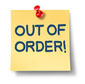 Out Of Order — Stock Photo