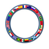 World Ring Of Global Flags Frame — Stock Photo