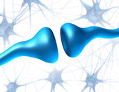 Synapse and Neuron Receptors — Stock Photo