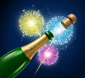 Champagne Fireworks Celebration — Stock Photo