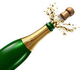 Champagne with Splash — Stock Photo