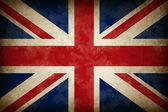 Ancien drapeau de grunge de grande-bretagne — Photo