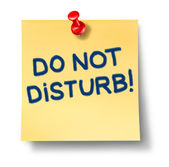 Do Not Disturb Note — Stock Photo